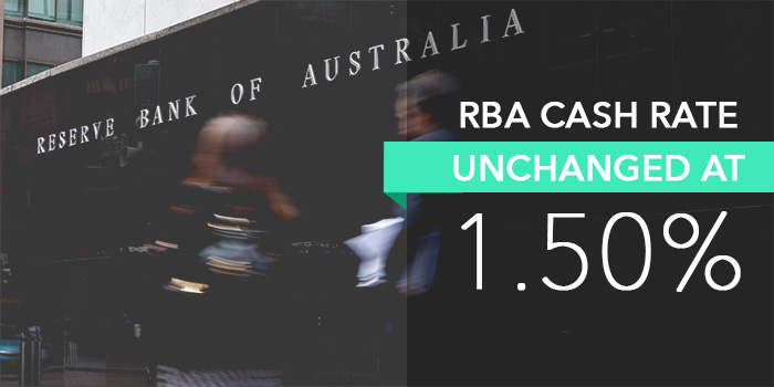 Reserve Bank of Australia has decided to leave official cash rate unchanged at 1.5%